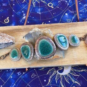 Jewelry - Teal Glass Bracelet